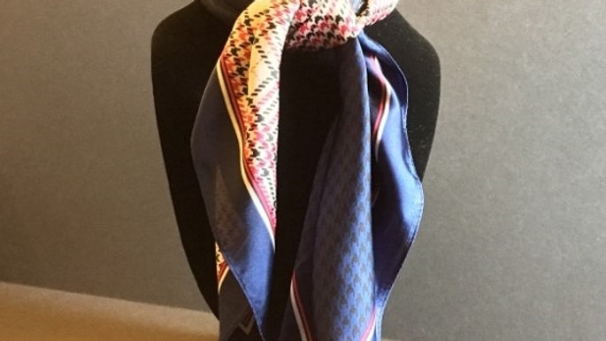 Blue Paisley/Stripe/Plaid/Houndstooth Show Scarf