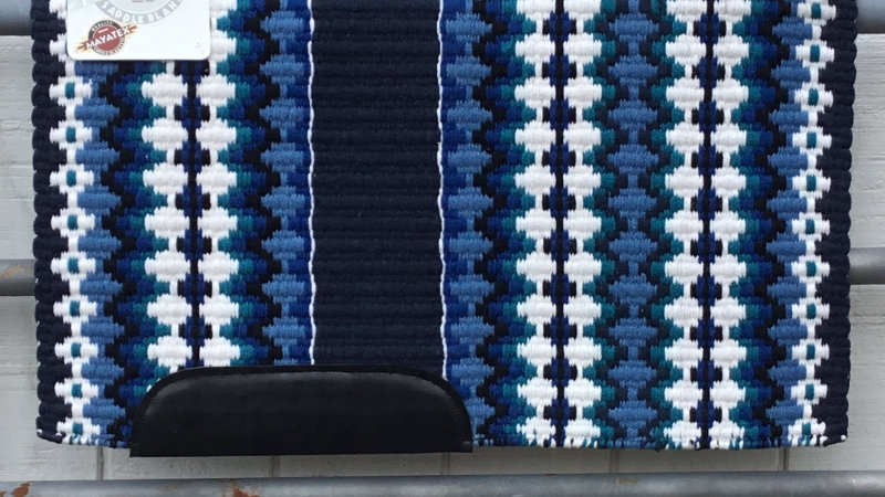 Navy base with Blue and Teal Show Blanket 3330
