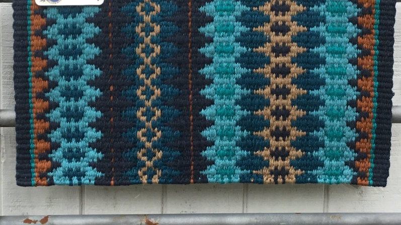Turquoise and Teal Show Blanket 1455-15