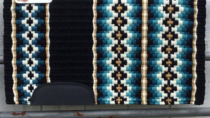 Ocean Blue and Gold Show Blanket 11113