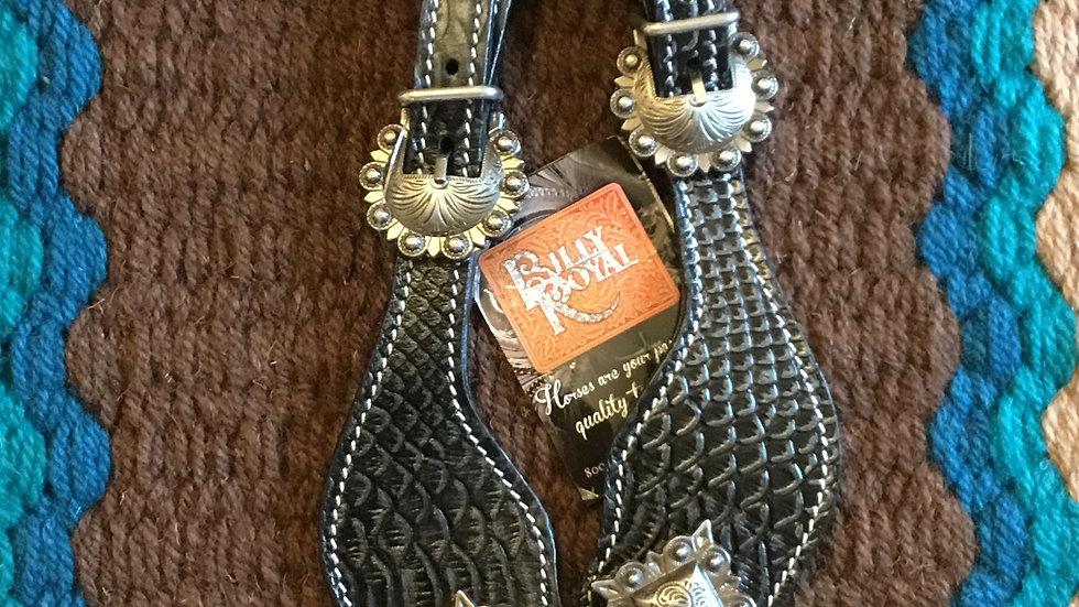 Billy Royal® Black Croc Spur Straps
