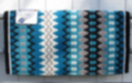 Nova 1455-5 Turquoise Gray Grey Show Saddle Blanket Mayatex.jpg