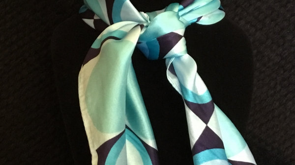 Turquoise Circles Show Scarf