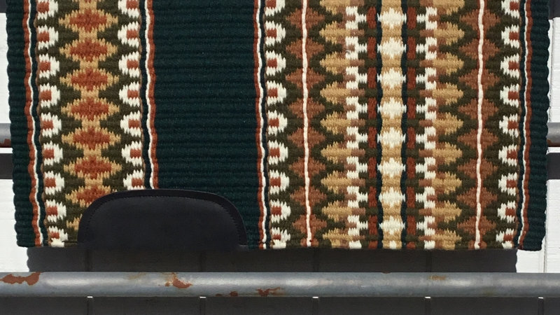Forest Green and Honey Arrow Show Blanket 3312