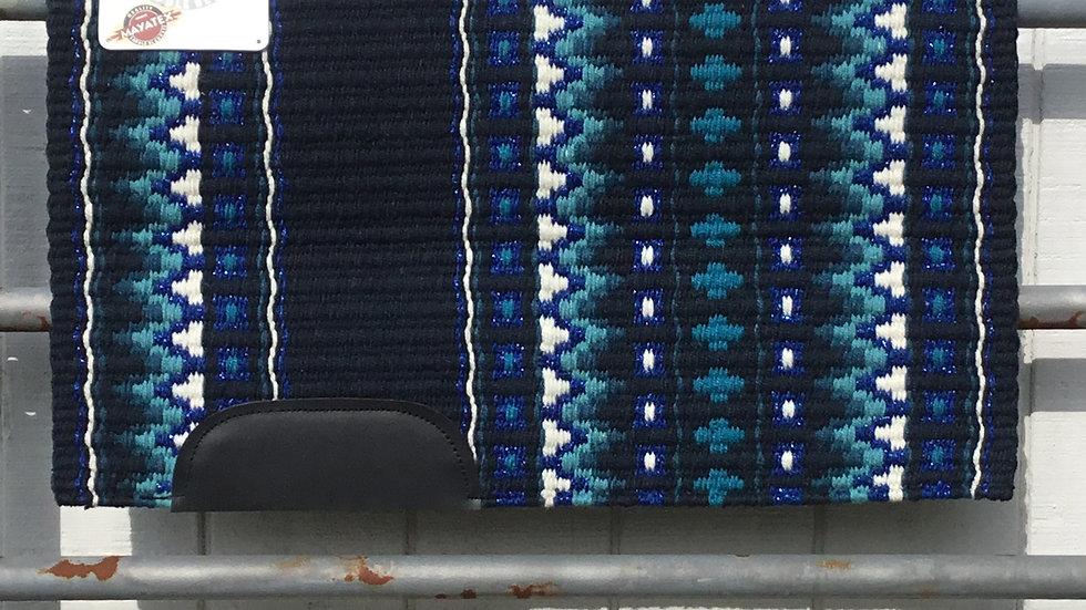 Royal Blue Metallic on Navy Show Blanket 1422