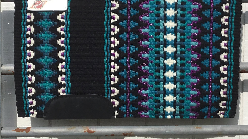 Metallic Purple with Turquoise Show Blanket 3422