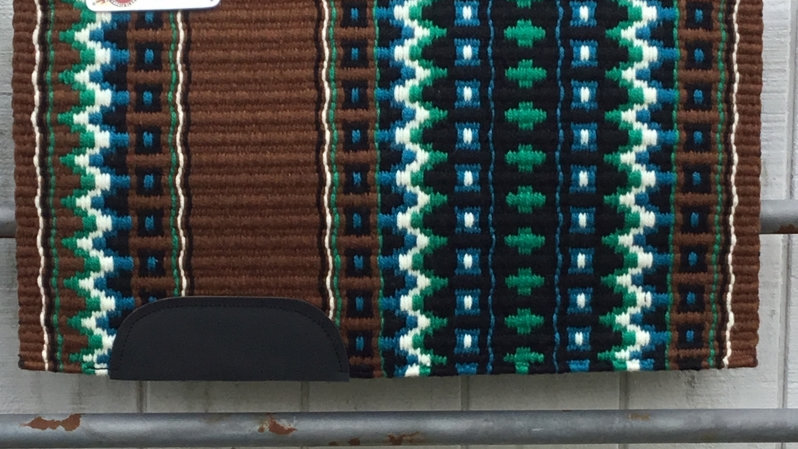 Kelly Green and Chocolate Show Blanket 51113