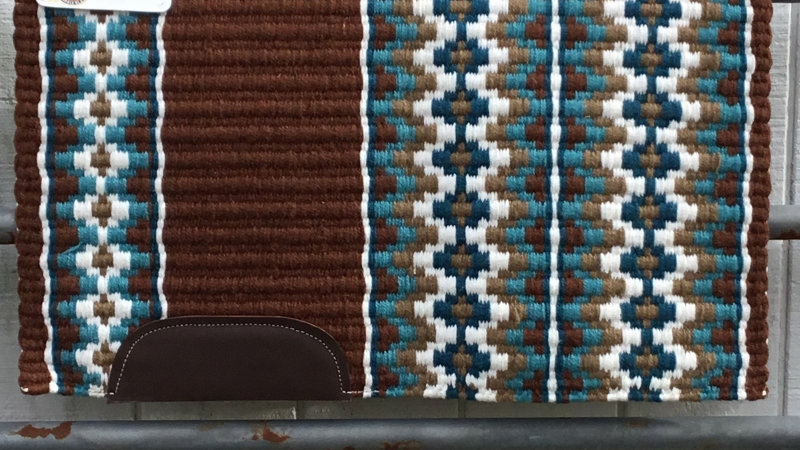 Turquoise and Chocolate Show Blanket 61113