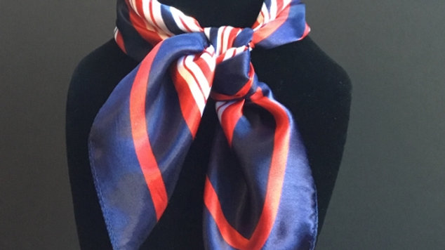 Red, White, and Blue Show Scarf