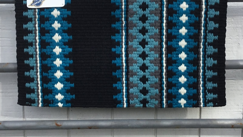 Black & Turquoise Show Blanket