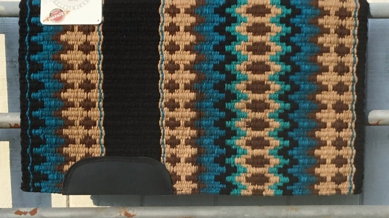 Tan and Teal Show Blanket 13790