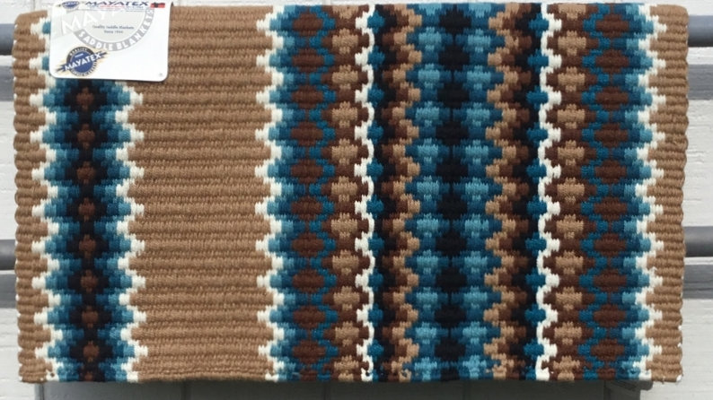 Tan and Turquoise Show Blanket 1458-1