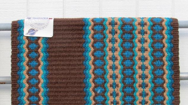 Canyon Land 1457-8 Turquoise Brown Chocolate Show Saddle Blanket Mayatex