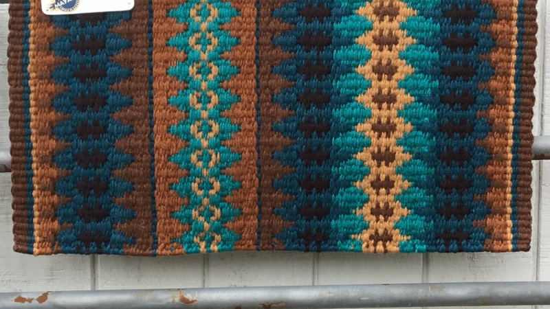 Rust and Teal Show Blanket 1455-17
