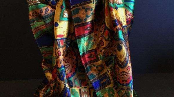 Colorful Geometric print Wild Rag