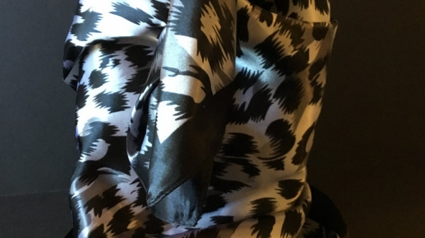 Black and Gray Leopard Wild Rag