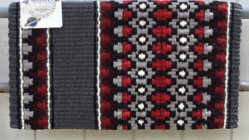 Red and Burgundy Show Blanket 1460-4