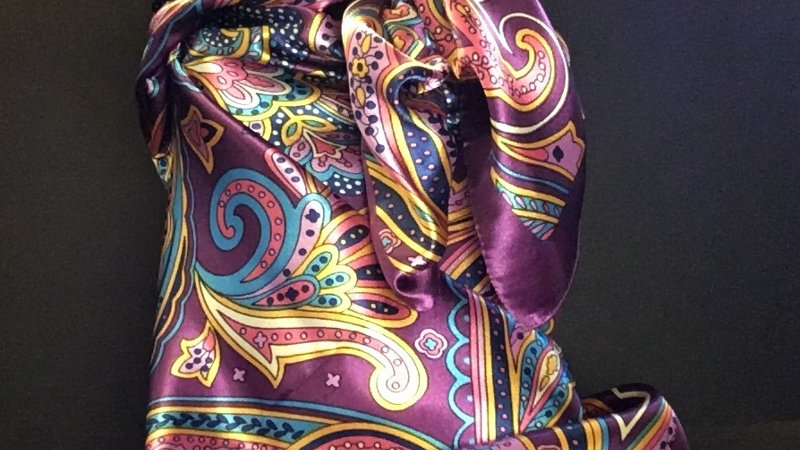 Purple Paisley Wild Rag
