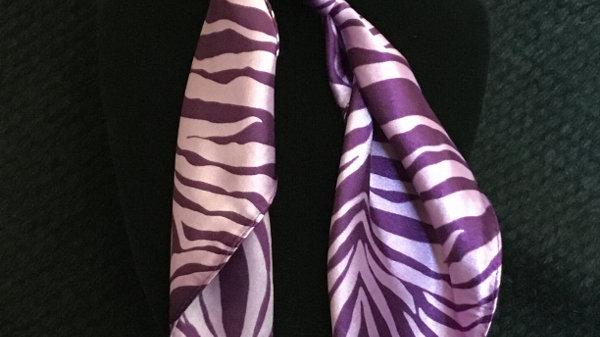 Soft Purple Zebra Print Show Scarf