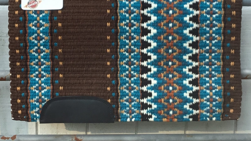 Brown and Blue Show Blanket 8790