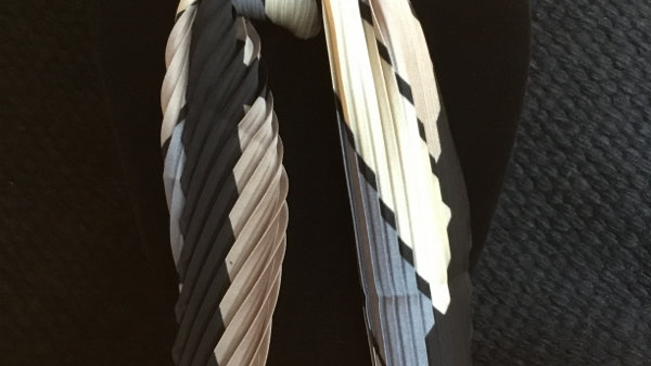 Gray and Tan Show Scarf