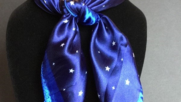Royal and Navy Star Show Scarf