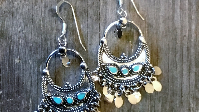 Sterling Silver Bali Dangling Earrings