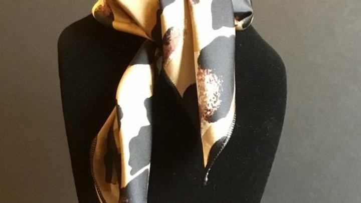 Gold and Buckskin Leopard Print Show Scarf