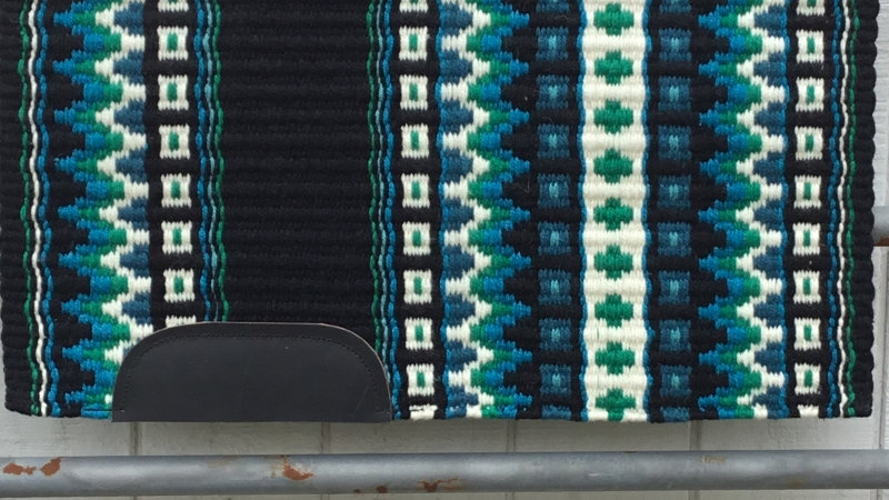 Kelly Green and Turquoise Show Blanket 5129
