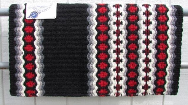 Canyon Land 1457-5 Black White Red Gray Show Saddle Blanket Pad Mayatex