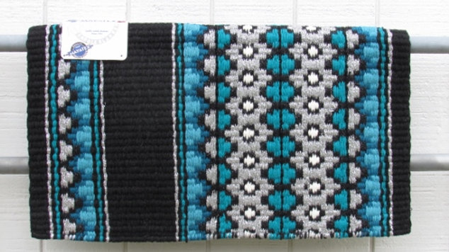 Ocean Blue, Turquoise and Silver Show Blanket