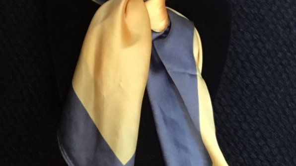 Charcoal and Yellow Show Scarf