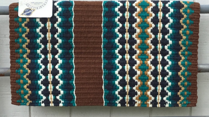 Ocean and Teal on Chocolate Show Blanket 1459-7