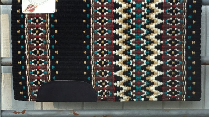 Expresso and Teal Show Blanket 11790