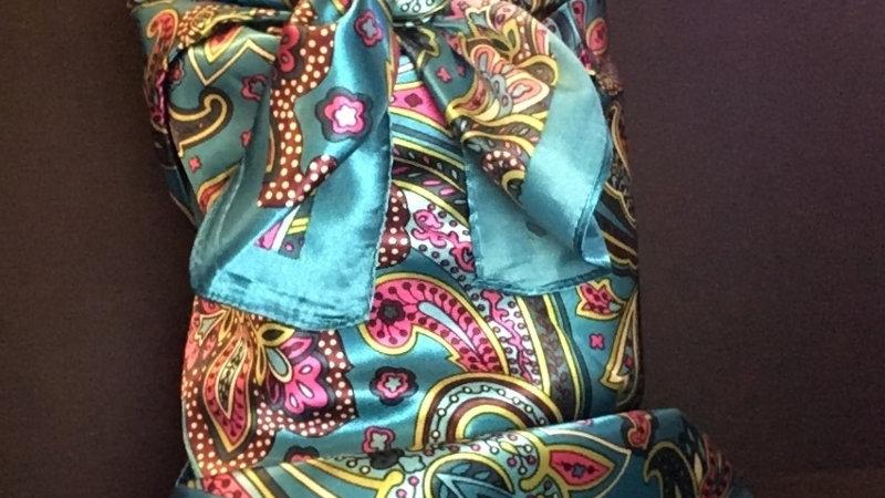 Show Turquoise Paisley Wild Rag