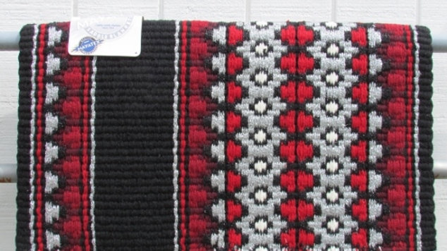 Red and Silver Metallic Show Blanket