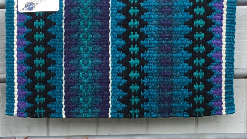Turquoise, Teal, and Indigo Show Blanket 1455-12