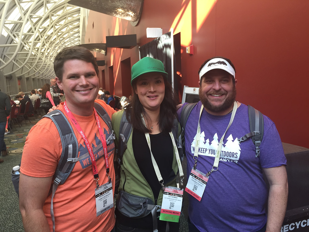 """Pat Hurst from Sawyer came by to see me and fellow Brand Ambassador """"Snorkel"""""""