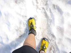 Altra Lone Peak 2.0 in the snow