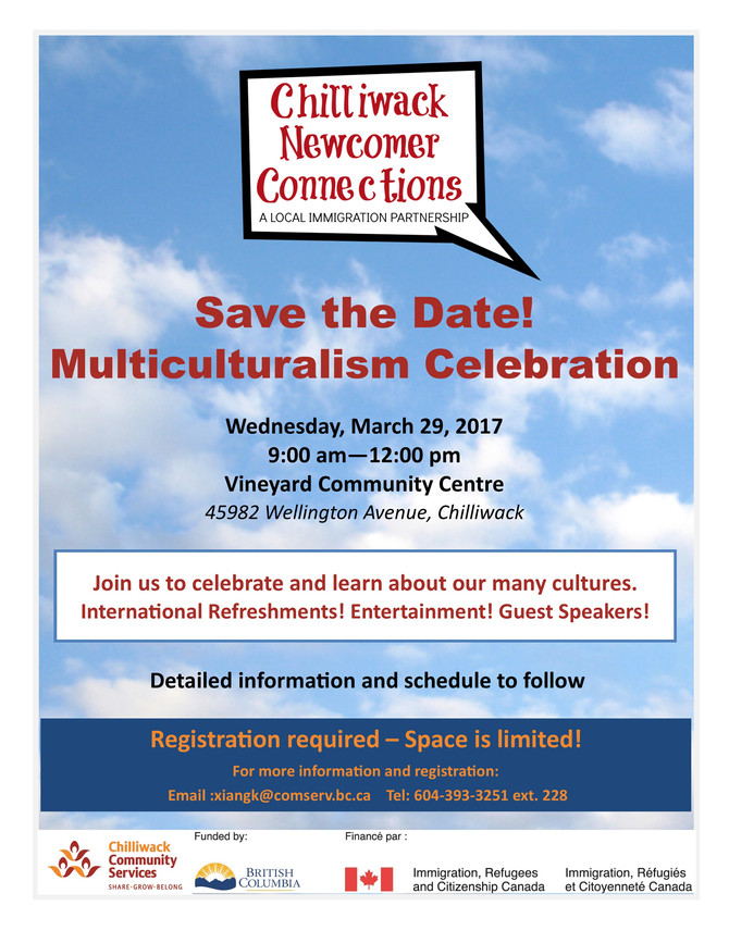 Save the Date! Multiculturalism Celebration
