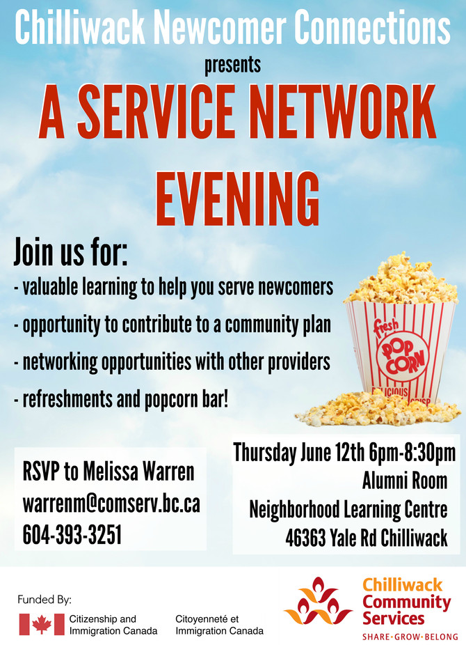 SERVICE NETWORK EVENING June 12th 2014