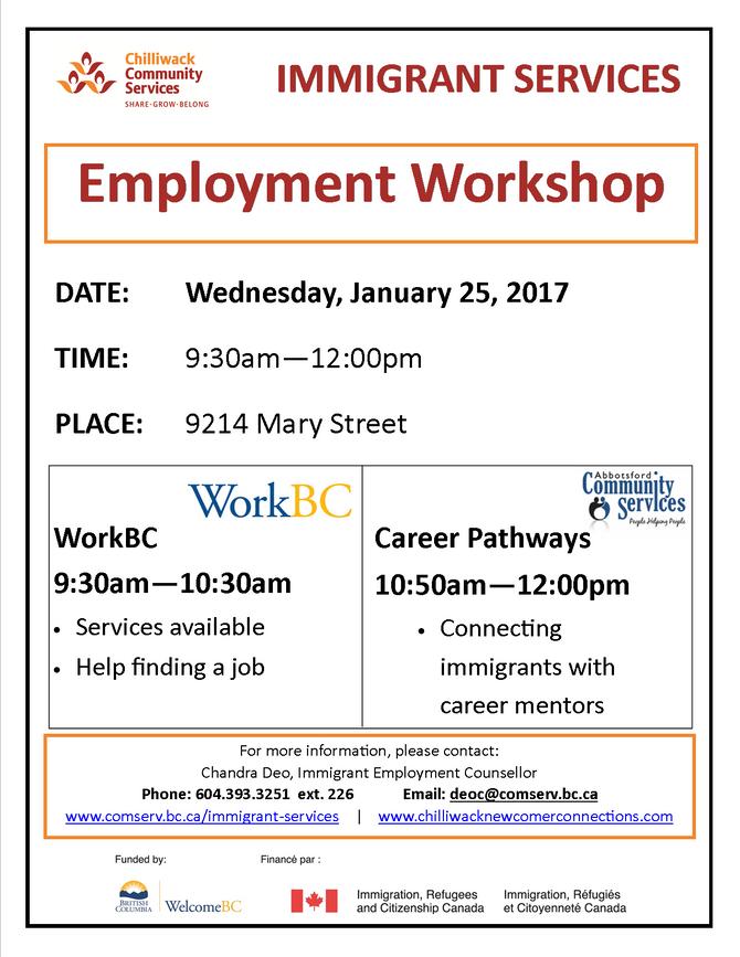 Work BC & Career Pathway Workshop