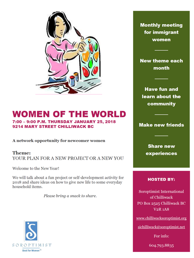 Women of the World -January 25,  2018 Event