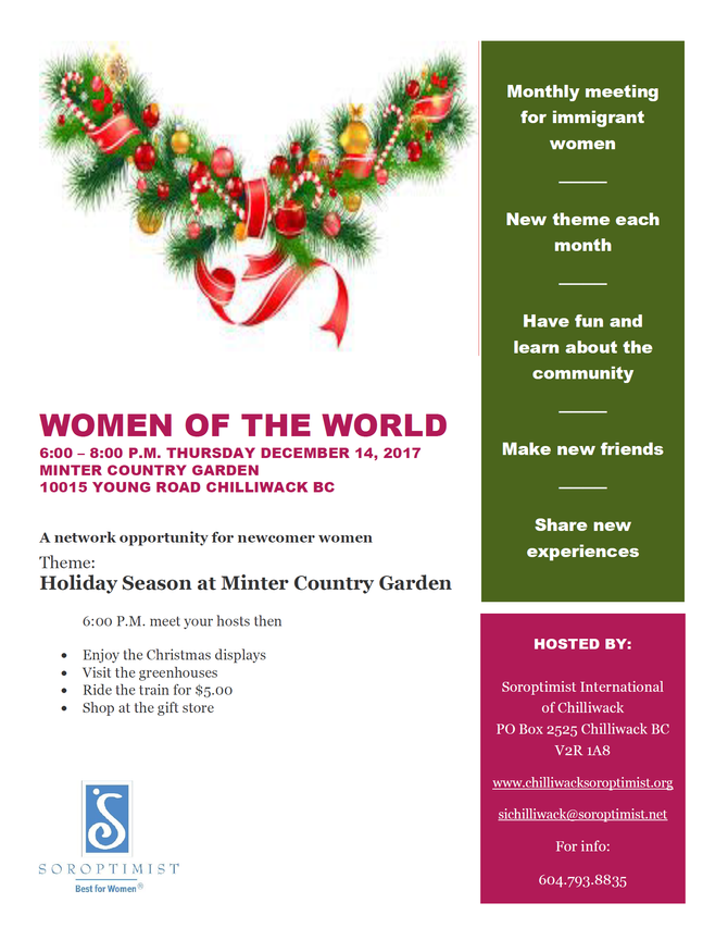 Women of The World - Christmas Event