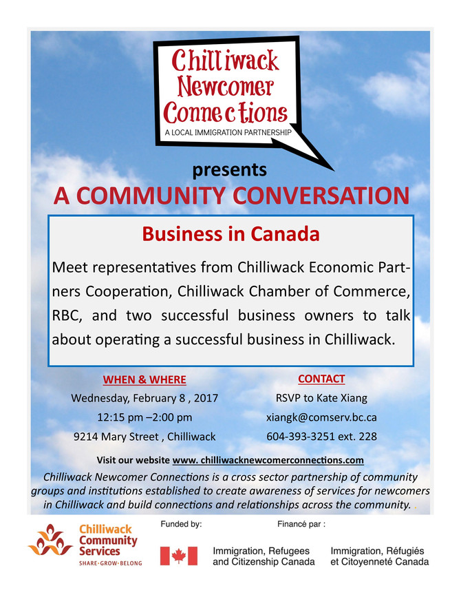 """Community Conversation """"Business in Canada"""""""