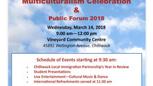 Multiculturalism Celebration and Public Forum 2018