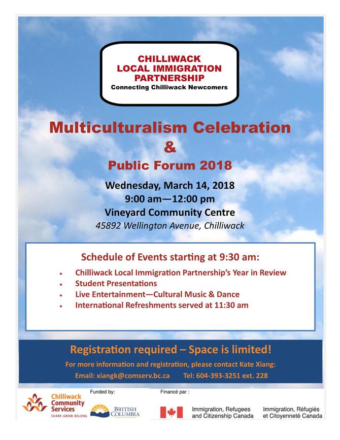 Multiculturalism Celebration and Public Forum 2018