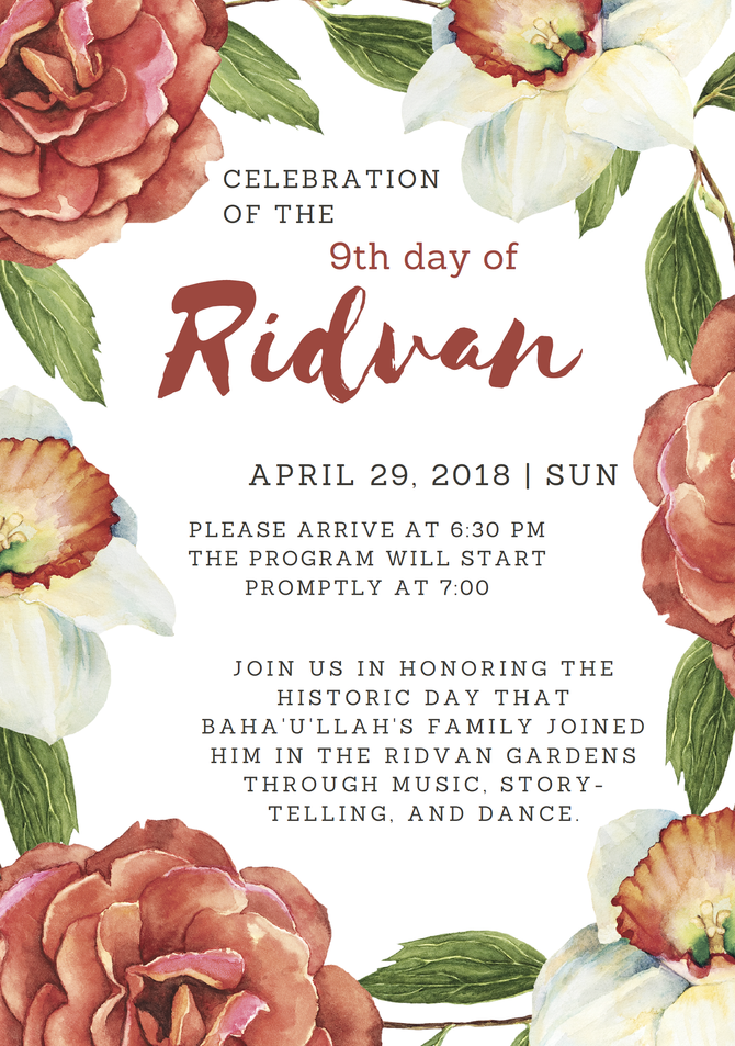 Celebration of the 9th day of Ridvan
