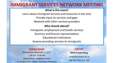 Immigration Services Network Meeting 2017