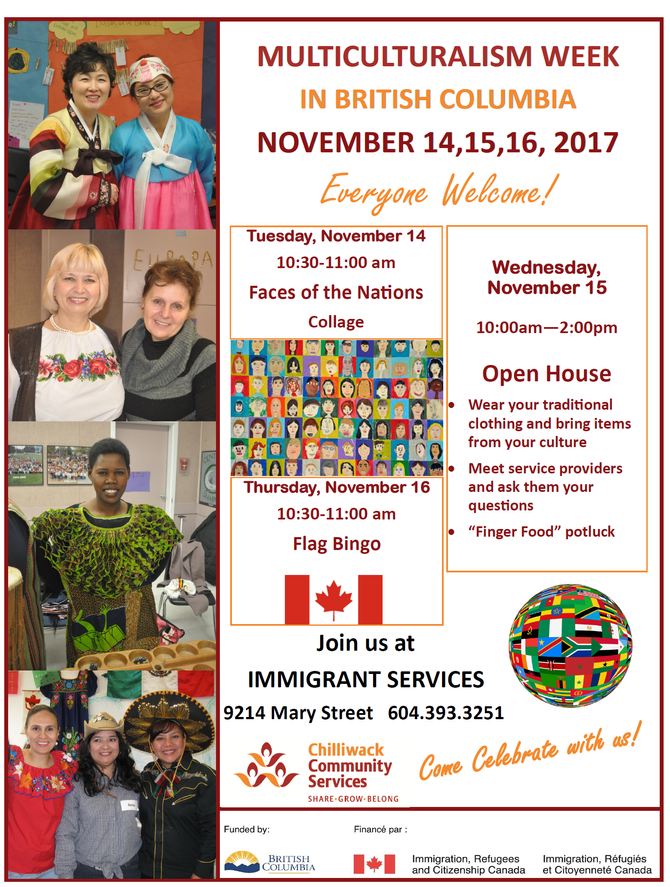 Multiculturalism Week - Come Celebrate with us !
